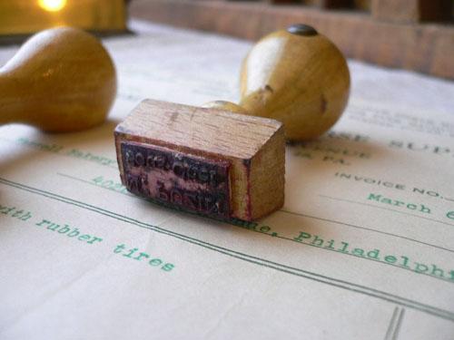 木製スタンプ