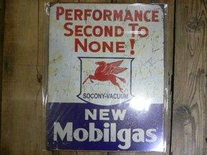 画像1: モービルガス ヴィンテージ加工看板