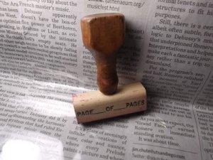 画像1: USA木製スタンプ PAGE OF