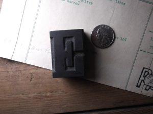画像1: 木製プリンターブロック E