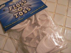 画像1: フロス&トス 歯垢除去