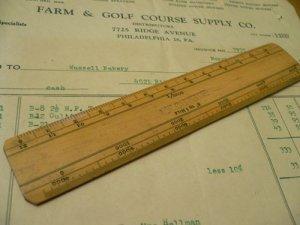 画像1: 木製ルーラー AWC